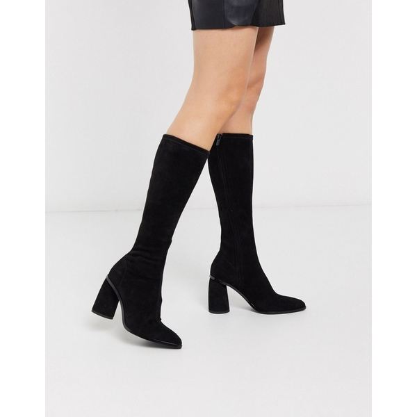 アンドアザーストーリーズ レディース ブーツ&レインブーツ シューズ & Other Stories knee high suede boots in black Black