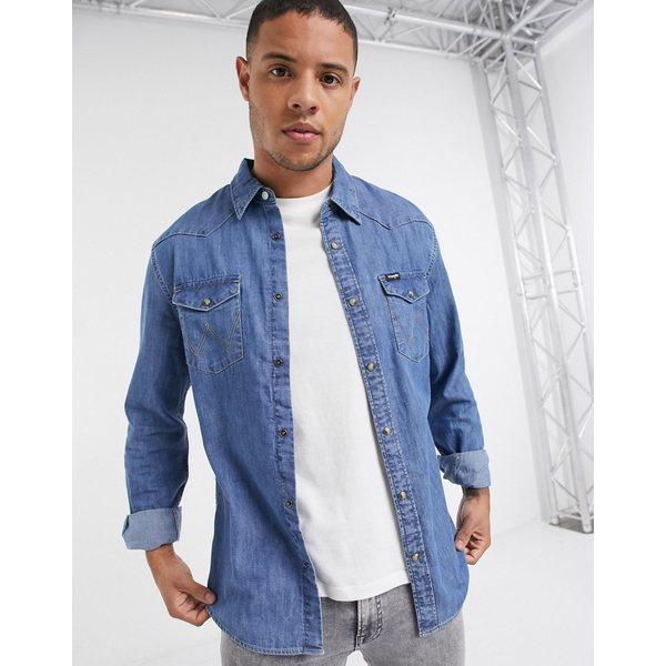 ラングラー メンズ シャツ トップス Wrangler denim shirt in light blue wash Light denim