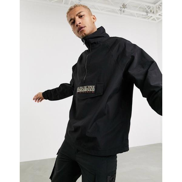 ナパピリ メンズ ジャケット&ブルゾン アウター Napapijri Astros CB pullover jacket in black Black