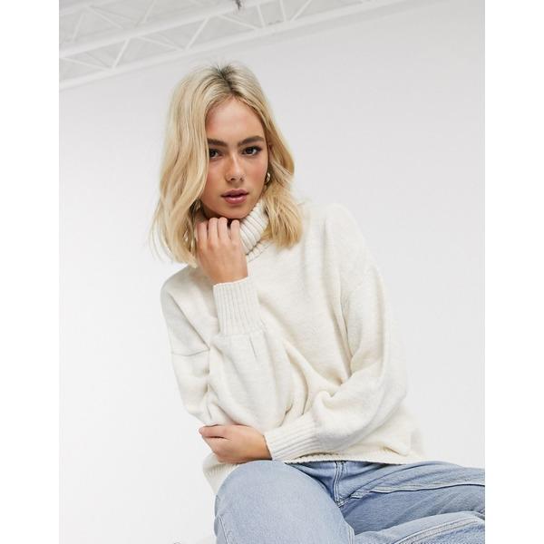 エイソス レディース ニット&セーター アウター ASOS DESIGN cowl neck oversized sweater Cream