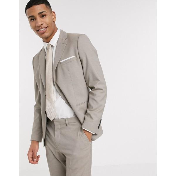 セレクテッドオム メンズ ジャケット&ブルゾン アウター Selected Homme skinny fit stretch suit jacket in sand Sand