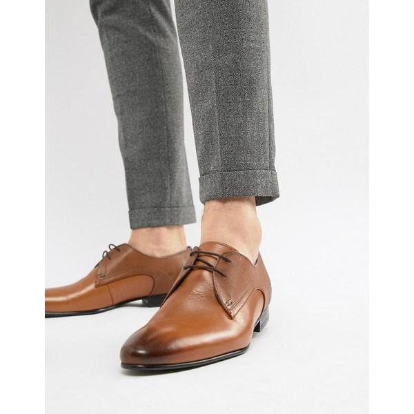テッドベーカー メンズ スニーカー シューズ Ted Baker Peair derby shoes in tan leather Tan