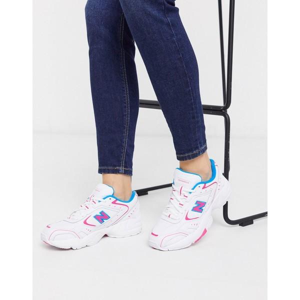 ニューバランス レディース スニーカー シューズ New Balance 452 Chunky Sneakers in white pink Black