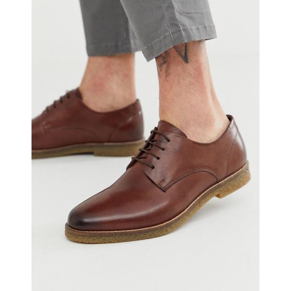 シルバーストリート メンズ スニーカー シューズ Silver Street leather lace up shoe in brown Brown