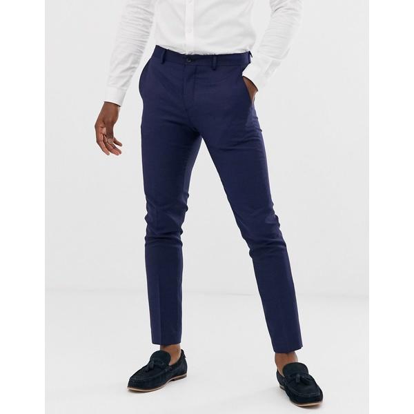 ジャック アンド ジョーンズ メンズ カジュアルパンツ ボトムス Jack & Jones Premium super slim fit stretch suit pants in navy Dark navy