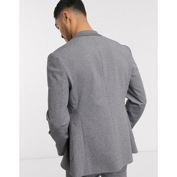 エイソス メンズ ジャケット&ブルゾン アウター ASOS DESIGN skinny suit jacket in gray jersey Gray