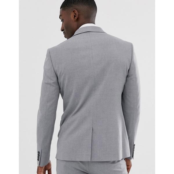 エイソス メンズ ジャケット&ブルゾン アウター ASOS DESIGN skinny suit jacket in mid gray Gray