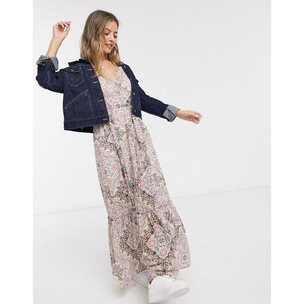 ミスセルフフリッジ レディース トップス ワンピース Multi 全商品無料サイズ交換 Miss Selfridge v-neck paisley 受賞店 puff print NEW売り切れる前に☆ midi dress sleeve in pink