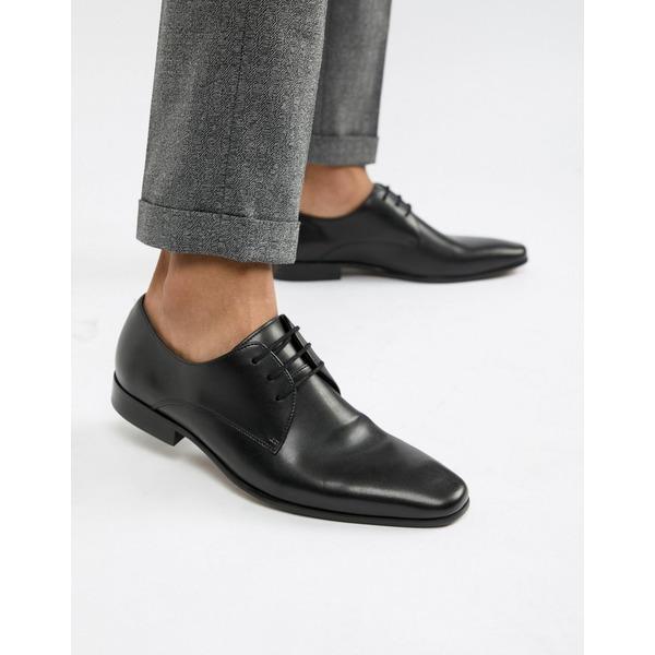 オフィス メンズ スニーカー シューズ Office Glide derby shoes in black leather Black