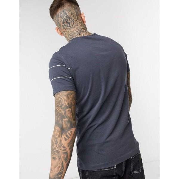 ジースター メンズ Tシャツ トップス G-Star inverted panel logo t-shirt in dark gray Gray