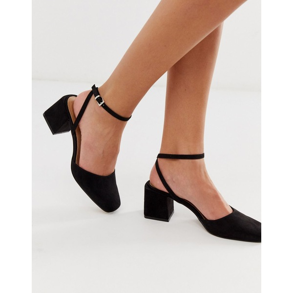 エイソス レディース スニーカー シューズ ASOS DESIGN Salvation block heeled mid shoes in black Black