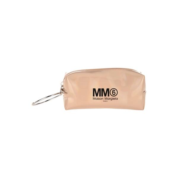 マルタンマルジェラ レディース クラッチバッグ バッグ Mm6 Small Logo Pouch CAMEL
