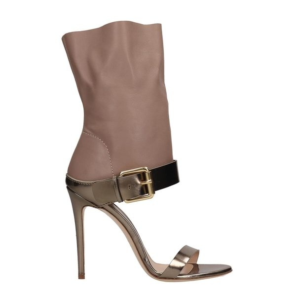 ディミッレ レディース サンダル シューズ Dei Mille Beige And Metallic Bronze Leather Sandals bronze