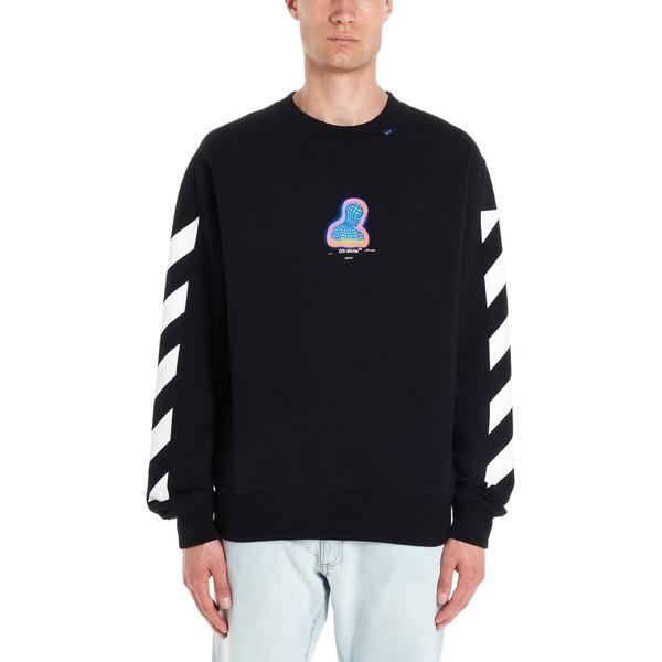 オフホワイト メンズ ニット&セーター アウター Off-white 'diag Thermo' Sweatshirt Black