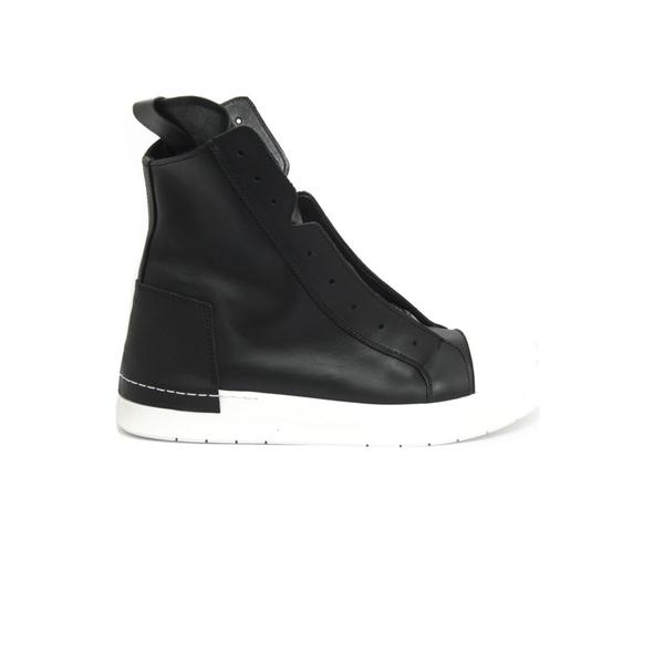 チンツィアアライア メンズ スニーカー シューズ Cinzia Araia High-top Sneaker In Black Leather Nero