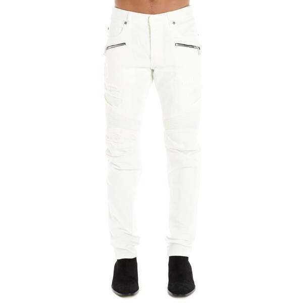 バルマン メンズ デニムパンツ ボトムス Balmain Jeans White