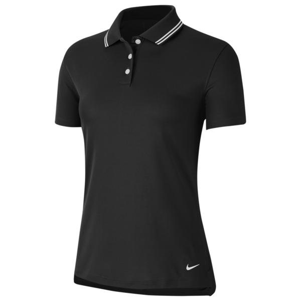 ナイキ レディース ポロシャツ トップス Dry Victory Solid Golf Polo Black/White