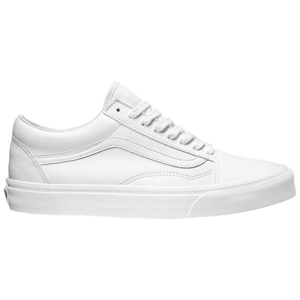バンズ メンズ スニーカー シューズ Old Skool True White | Tumbled Leather