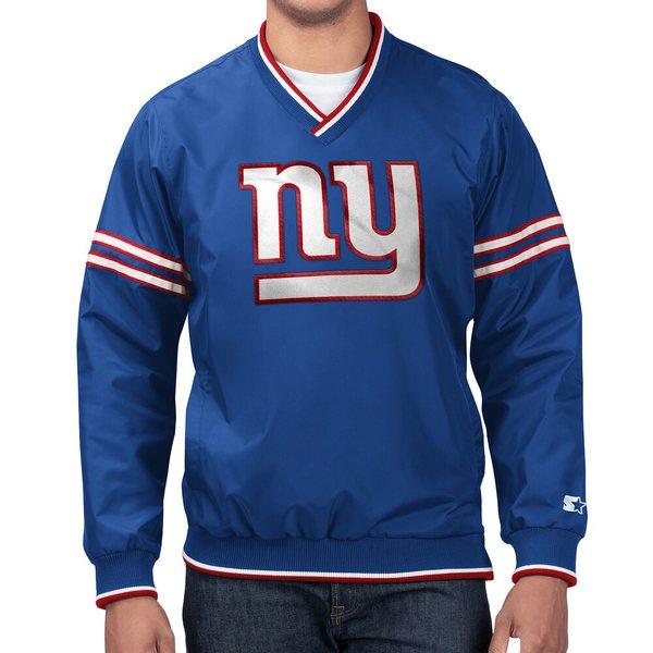 スターター メンズ ジャケット&ブルゾン アウター NFL Game Day Trainer II PO Jacket NFL   New York Giants   Royal
