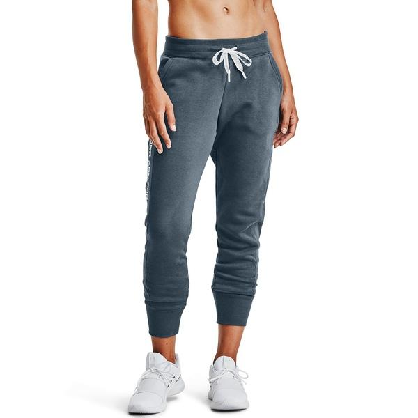 ボトムス Embroidered レディース Women's アンダーアーマー カジュアルパンツ Blue Fleece Pant Mechanic Rival