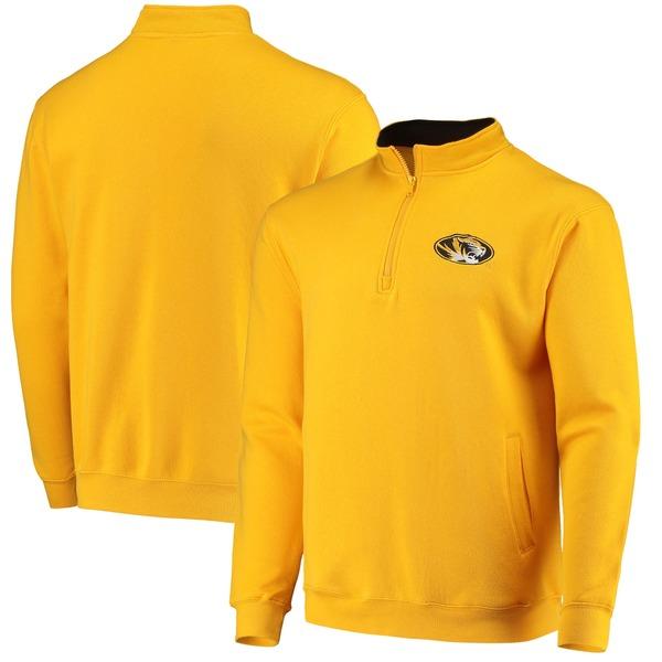 コロシアム メンズ ジャケット&ブルゾン アウター Missouri Tigers Colosseum Tortugas Logo QuarterZip Pullover Jacket Heathered Gray