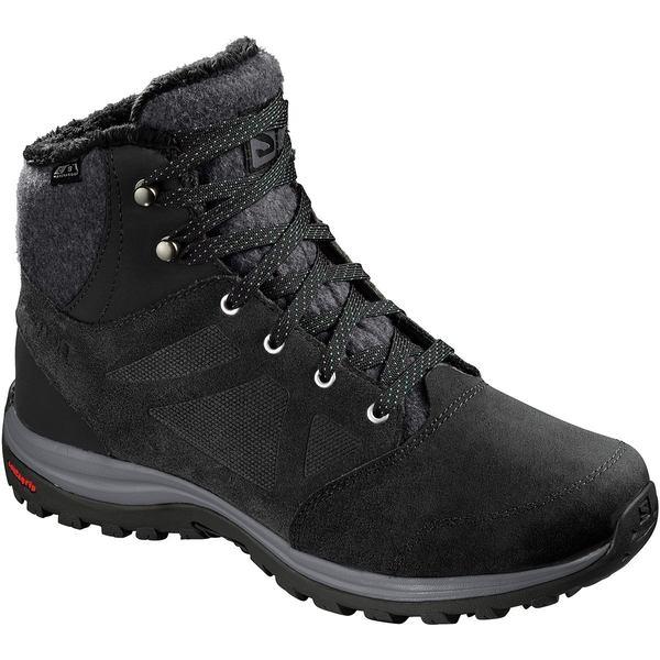 サロモン レディース ブーツ&レインブーツ シューズ Ellipse Freeze CS WP Boot - Women's Black/Phantom/Beach Glass