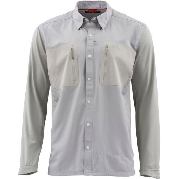 シムズ メンズ シャツ トップス TriComp Cool Long-Sleeve Shirt - Men's Granite