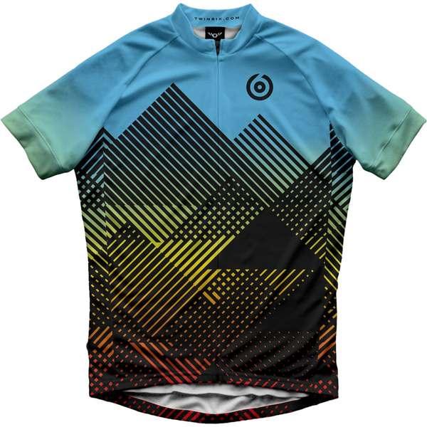 ツインシックス メンズ サイクリング スポーツ The Summit Jersey - Men's Blue/Multi