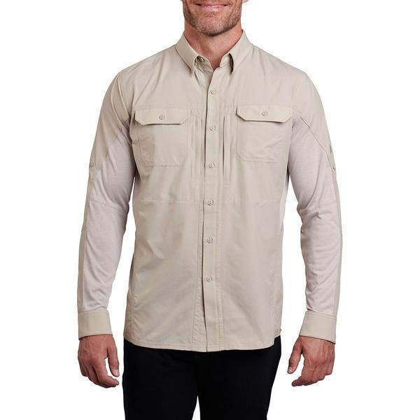 キュール メンズ シャツ トップス Airspeed Long-Sleeve Shirt - Men's Light Khaki