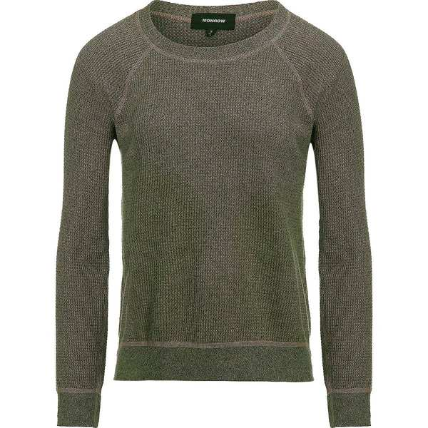 モンロー レディース パーカー・スウェットシャツ アウター Brushed Thermal Vintage Raglan Crew Sweatshirt - Women's Army