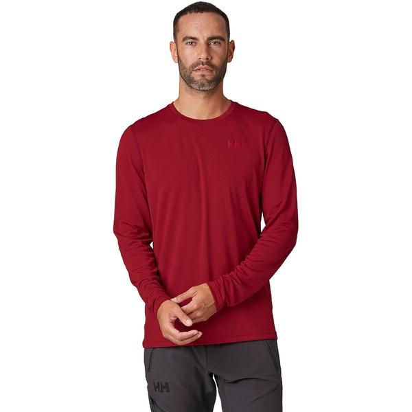 ヘリーハンセン メンズ シャツ トップス HH Lifa Active Solen Long-Sleeve Shirt - Men's Oxblood