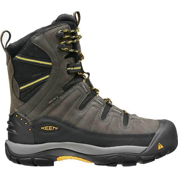キーン メンズ ブーツ&レインブーツ シューズ Summit County Boot - Men's Dark Shadow/Yellow