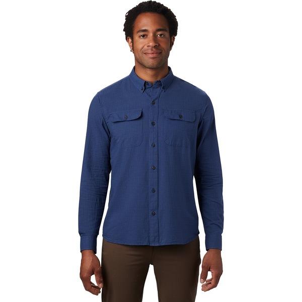 マウンテンハードウェア メンズ シャツ トップス Crystal Valley Long-Sleeve Shirt - Men's Better Blue