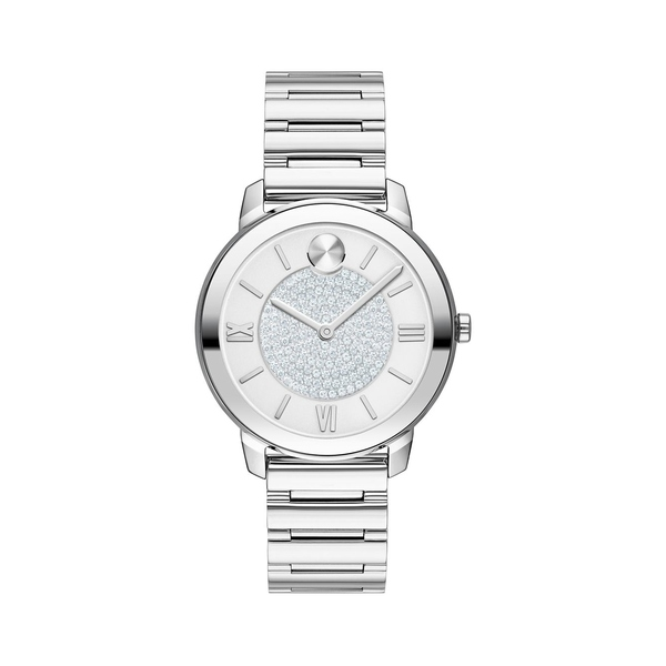 モバド レディース 腕時計 アクセサリー Bold Ion-Plated Stainless Steel & Pavé Crystal Bracelet Watch Silver
