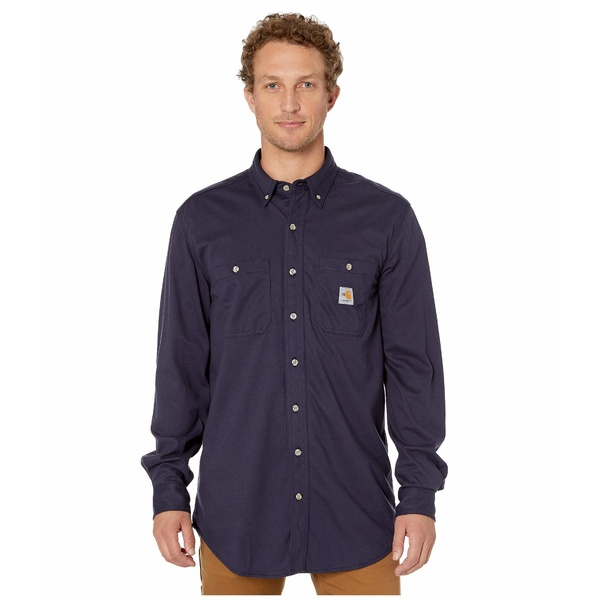 カーハート メンズ シャツ トップス Flame-Resistant Force Cotton Hybrid Shirt Dark Navy