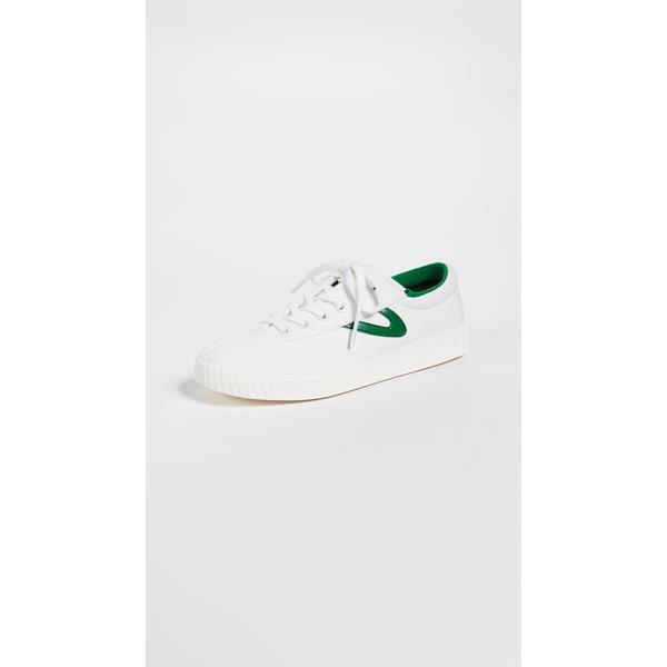 トレトン レディース スニーカー シューズ Nylite Sneakers Vintage White/Green