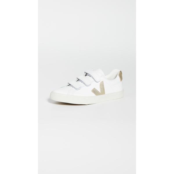 ヴェジャ レディース スニーカー シューズ 3-Lock Logo Sneakers Extra White/Gold