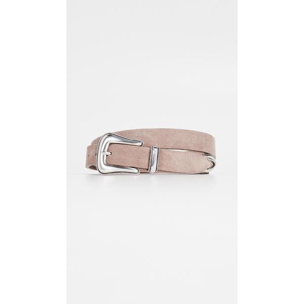 ビーロウザベルト レディース ベルト アクセサリー Wylder Suede Belt Light Taupe/Silver