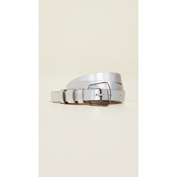 ビーロウザベルト レディース ベルト アクセサリー Kim Iridescent Belt Silver