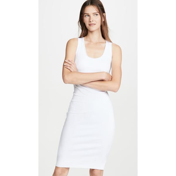 エンザ コスタ レディース ワンピース トップス Rib Scoop Tank Midi Dress White