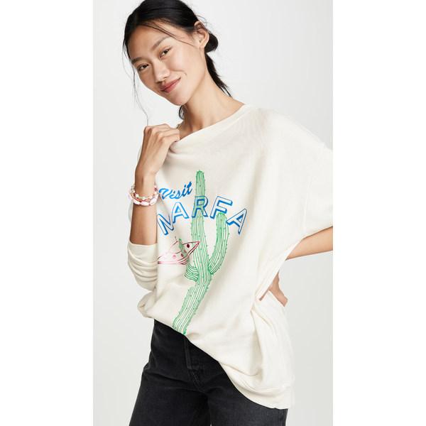 ワイルドフォックス レディース パーカー・スウェットシャツ アウター Visit Marfa Roadtrip Sweatshirt Vintage Lace