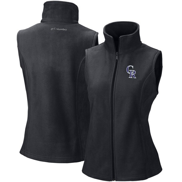 コロンビア レディース ジャケット&ブルゾン アウター Colorado Rockies Columbia Women's Benton Springs Full-Zip Vest Black