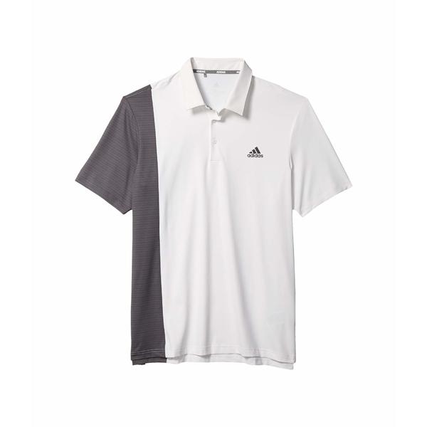 アディダス メンズ シャツ トップス Ultimate365 Blocked Print Polo Shirt White/Grey Six/Collegiate Navy