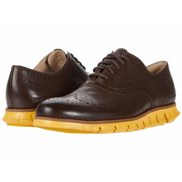 コールハーン メンズ ドレスシューズ シューズ Zerogrand Wing Tip Oxford Bracken Leather/Golden Rod