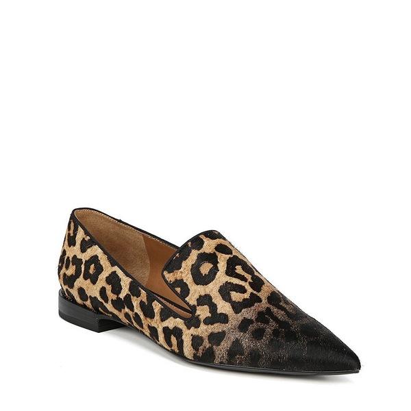フランコサルト レディース サンダル シューズ Sarto by Franco Sarto Topaz 2 Leopard Print Calf Hair Loafers Camel