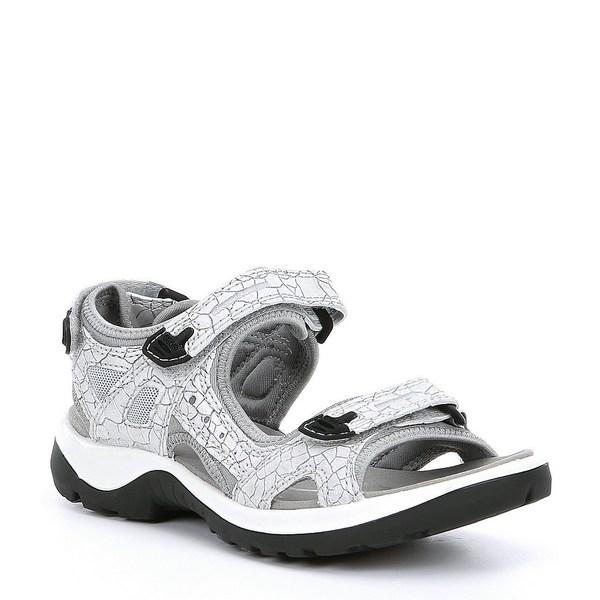 エコー レディース サンダル シューズ Yucatan Leather Banded Sandals White
