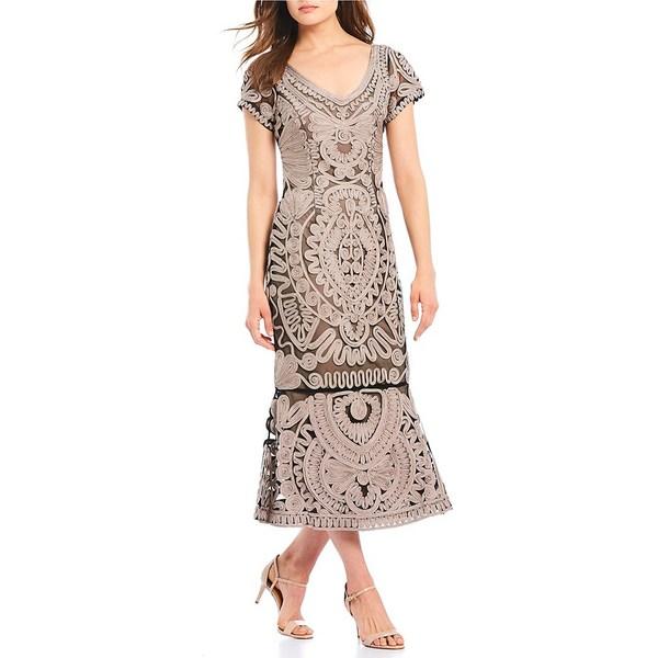 ジェイエスコレクションズ レディース ワンピース Clay トップス V-Neck Soutache Soutache Midi Dress ワンピース Clay, マドンナ:eb65332c --- officewill.xsrv.jp