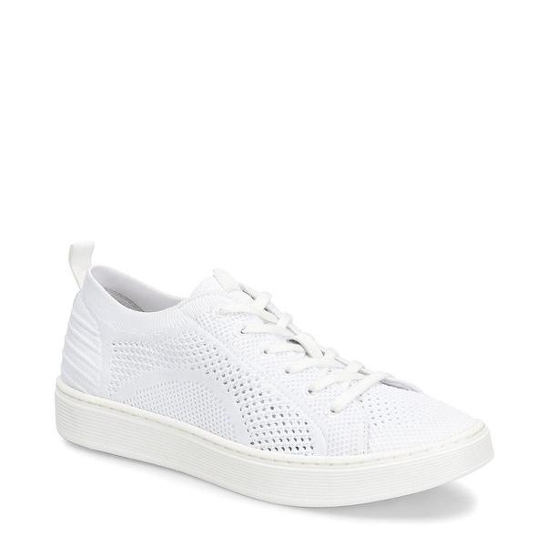 ソフト レディース スニーカー シューズ Somers Knit Lace Up Sneakers White