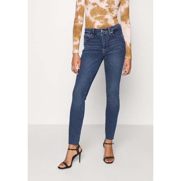 デニムパンツ RAW - EDGE レディース Fit LEGS グッドアメリカン - ボトムス blue Skinny Jeans