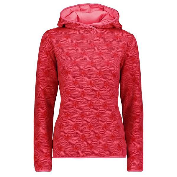 シーエムピー レディース アウター ジャケット ブルゾン 開店記念セール オンラインショッピング Hibiscus Melange Granita CMP hnql012c Fix Stretch 全商品無料サイズ交換 Fleece Sweat